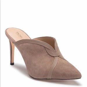 Rachel Zoe suede mule heels